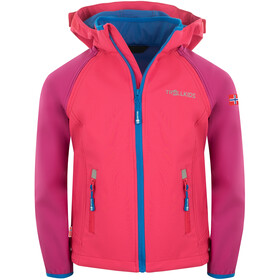 TROLLKIDS Rondane XT Veste zippée Enfant, dark pink/light pink/blue